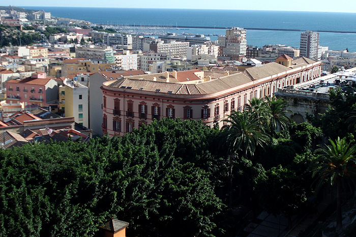 "Panoramic view of ""Palazzo Valdes"""